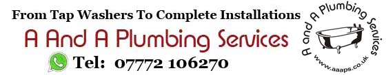 Plumbers in Telford, Telford Plumbers, Plumbing Services in Telford, A And A Plumbing